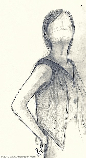 model-no-face