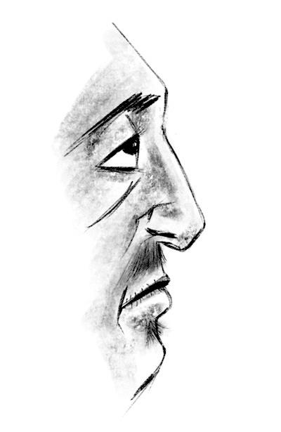 side-face-sketch